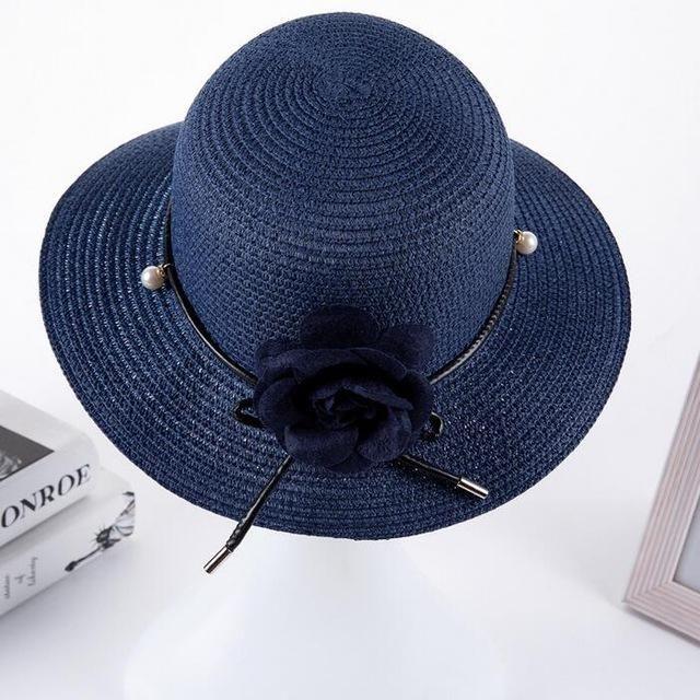 59531e655ee5b 2017 summer hats for women Vintage Linen Beach hat outdoor flower straw hat  Feminino Fedora Hat