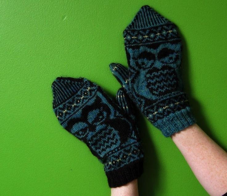 156 best Öökullid images on Pinterest | Knitting, Mittens and Bird