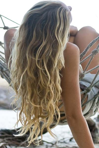 Beach waves hair on the beach