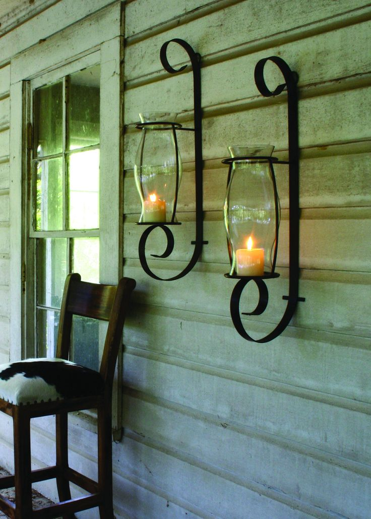 Wall Sconce With Hurricane Glass : Flat Iron Wall Sconce w/Glass Hurricane Flats, Products and Sconces