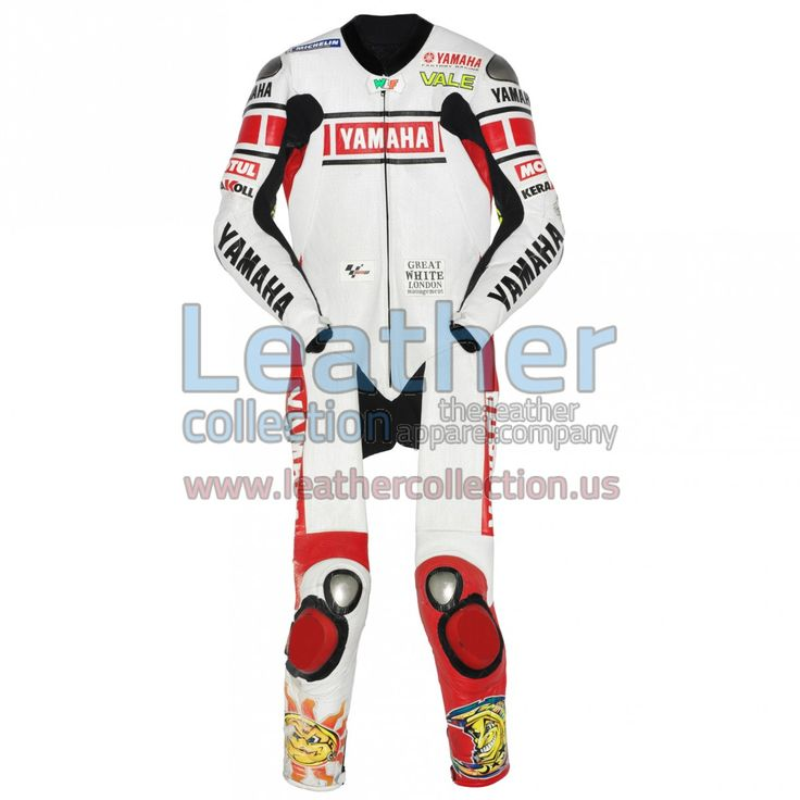 Valentino Rossi wore the especially designed leather suit in 2005 for the Valencia Grand Prix (Spain) - https://www.leathercollection.us/en-we/valentino-rossi-yamaha-motogp-spain-2005-leather-suit.html