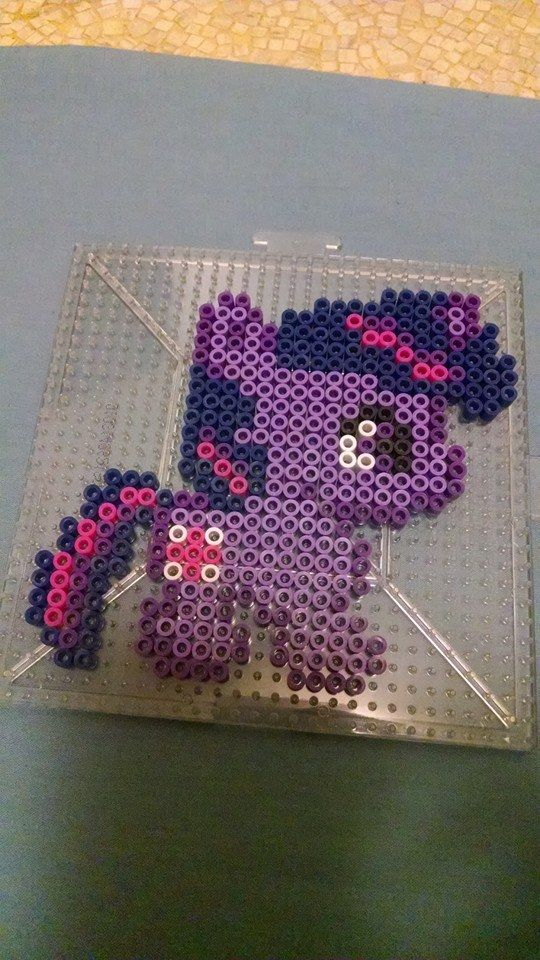 MLP Twilight Sparkle Chibi perler beads by swimmingangel on deviantART