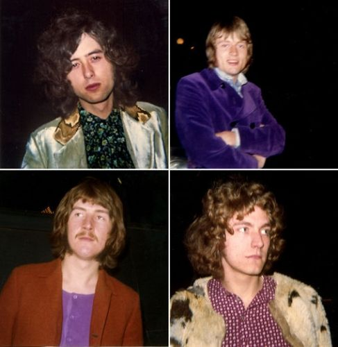 A fan shot these rarely seen photographs of Jimmy Page, John Paul Jones, Robert Plant and John Bonham outside a club in 1968.