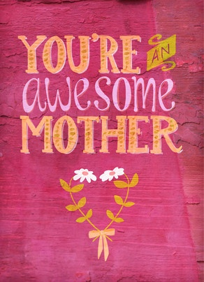 Awesome Mom and Wife Mother's Day Card