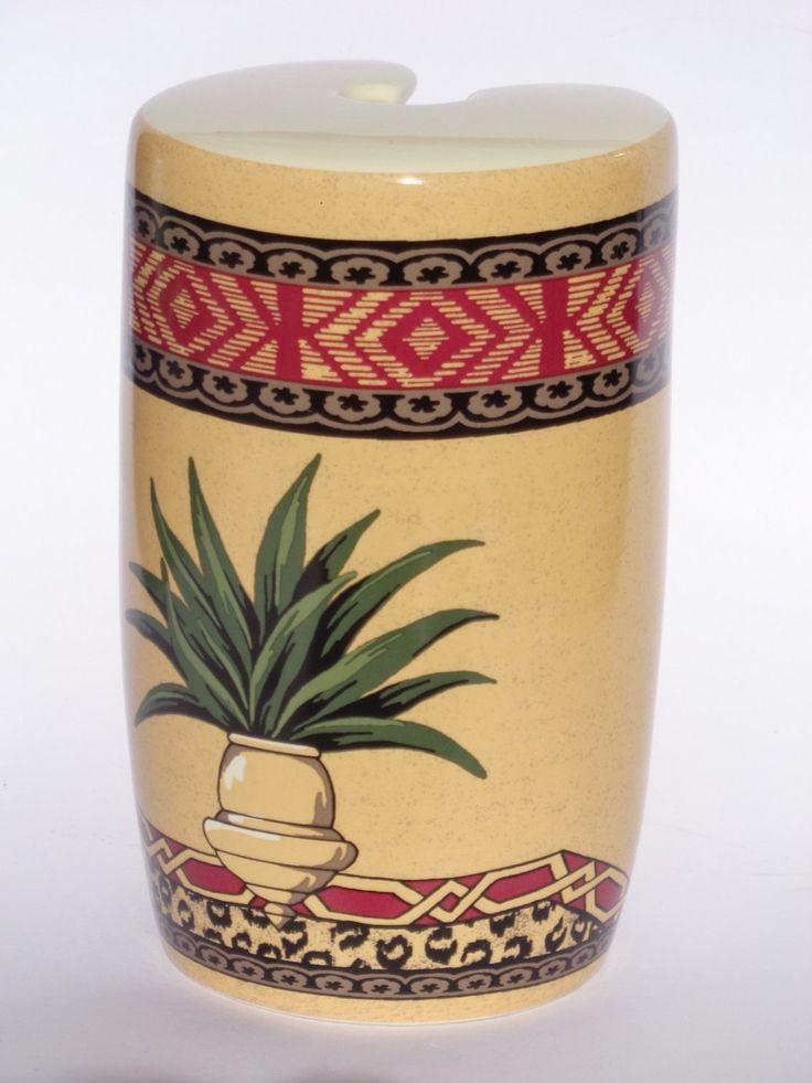 Springmaid+Tropical+Toilet+Brush+Holder+Ceramic+Leopard+Print only $19.95