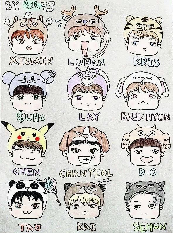 Exo Cartoon