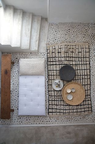 Stone Floor and Rug