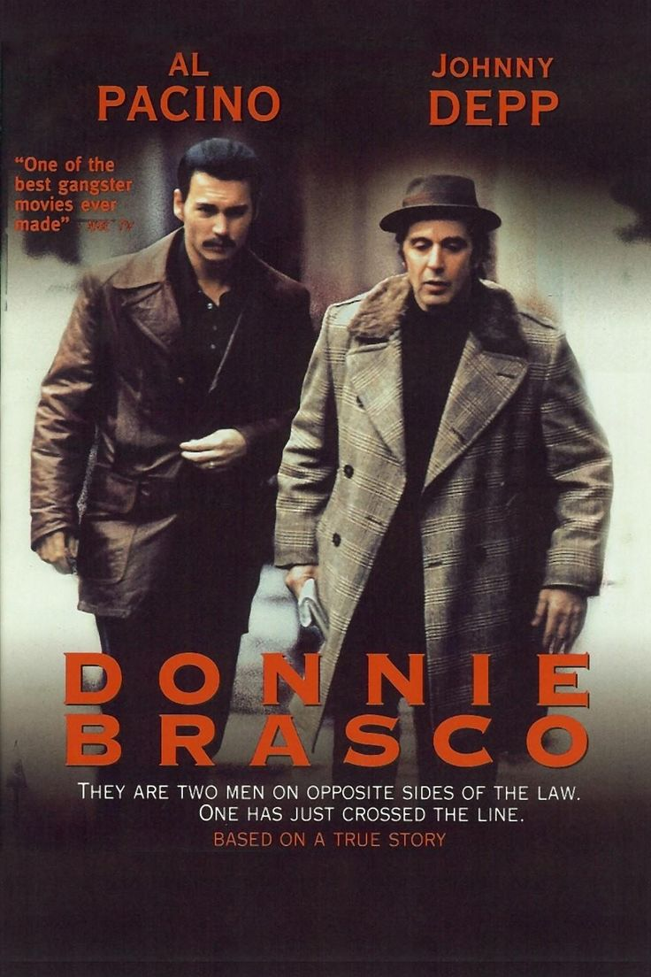 DONNIE BRACO // Amer. crime drama based on the true story of Joseph D. Pistone (an FBI undercover agent who infiltrated the Bonanno crime family in New York City during the 1970s, under the alias Donnie Brasco) by Mike Newell, 1997.