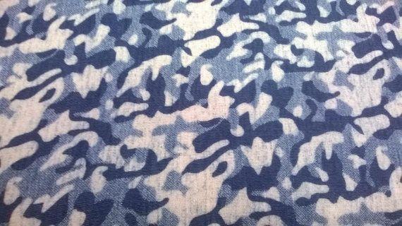 Blue military denim fabricArmy denim fabricarmy by FabrictalesShop