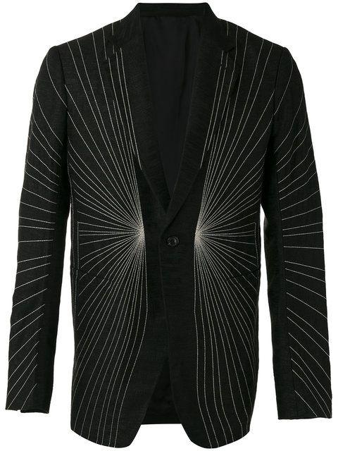 Shop Rick Owens embroidered blazer.