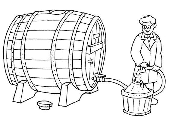 botte di vino DA COLORARE | Midisegni.it - Disegni da colorare per bambini