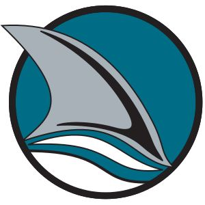 San Jose Sharks - The Sharks' first alternate logo, showing a shark fin emerging from water (1991–2007)