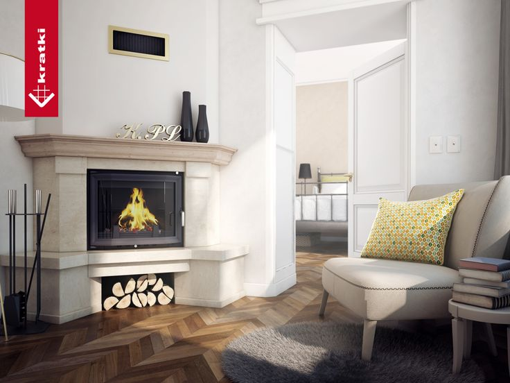 Fireplace ANTEK 10 kW prismatic #kratkipl #kratki #fireplace #insert #interior #livingroom