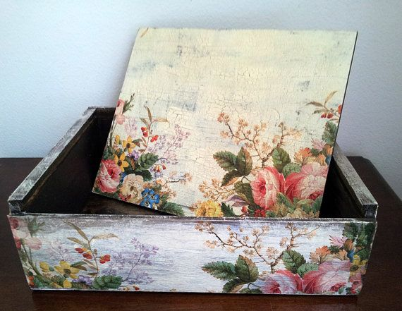 Decoupage Box by Nemchinmarina on Etsy, $25.00