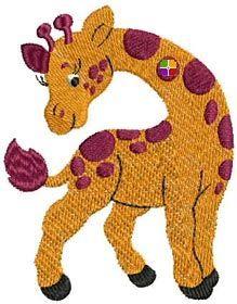Amazing Embroidery Designs giraffe