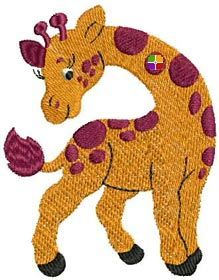 This free embroidery design is a giraffe.  Thanks to Amazing Embroidery Designs for posting it.