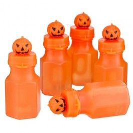 Create the fun party atmosphere with these Halloween bubbles! 5 pack. Not suitable for children  under 36 months.  Choking hazard due to small parts. In case of contact with eyes, wash immediately with clean water.