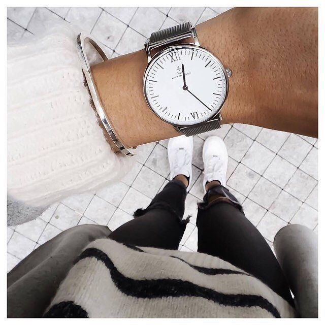 Beautiful outfit inspiration with Campus Silver Mesh by @fakander   fits perfectly to white & grey clothes    kapten-son.com