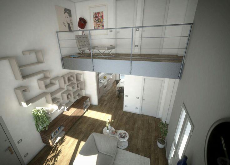 #ivanrivoltella #project #rendering #3d #visualizationarchitecture #concept #interiordesign #loft #living #archviz #arch.Agliati
