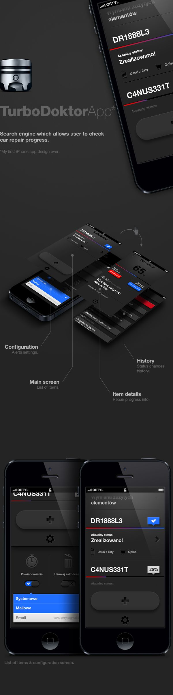 TurboDoktor - iPhone App on Behance *** #iphone #app #gui