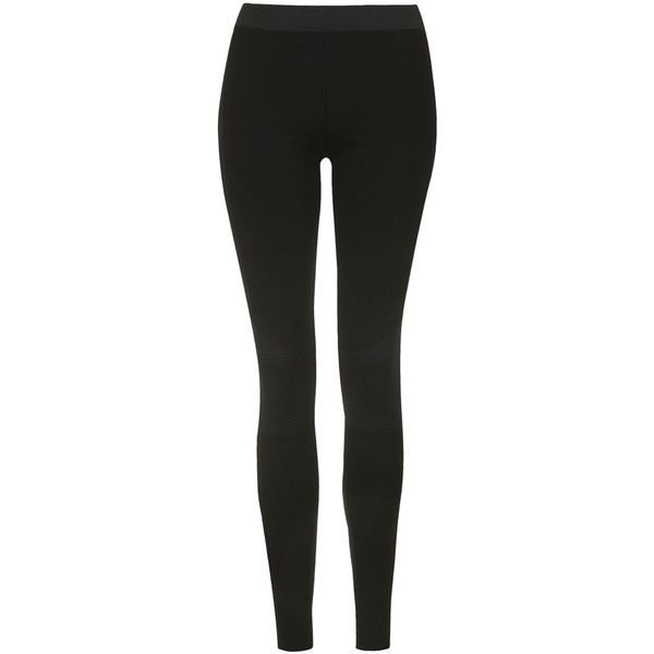 TOPSHOP TALL Biker Ponte Leggings ($34) ❤ liked on Polyvore featuring pants, leggings, bottoms, jeans, pantalones, black, tall leggings, black leggings, topshop leggings and tall pants