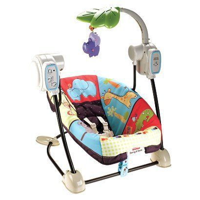 $69.99 Fisher Price Space Saver Swing & Baby Seat - Luv U Zoo.Opens in a new window