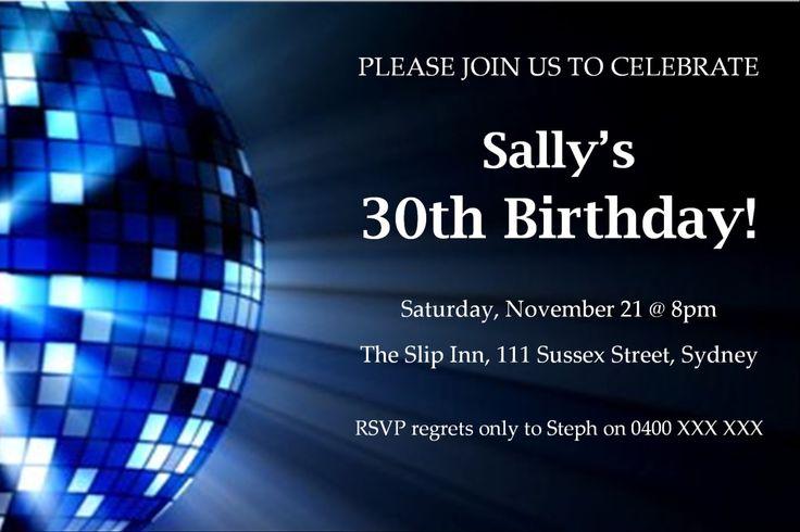 30th Birthday Invitation - Disco Ball by KleezPrints on Etsy