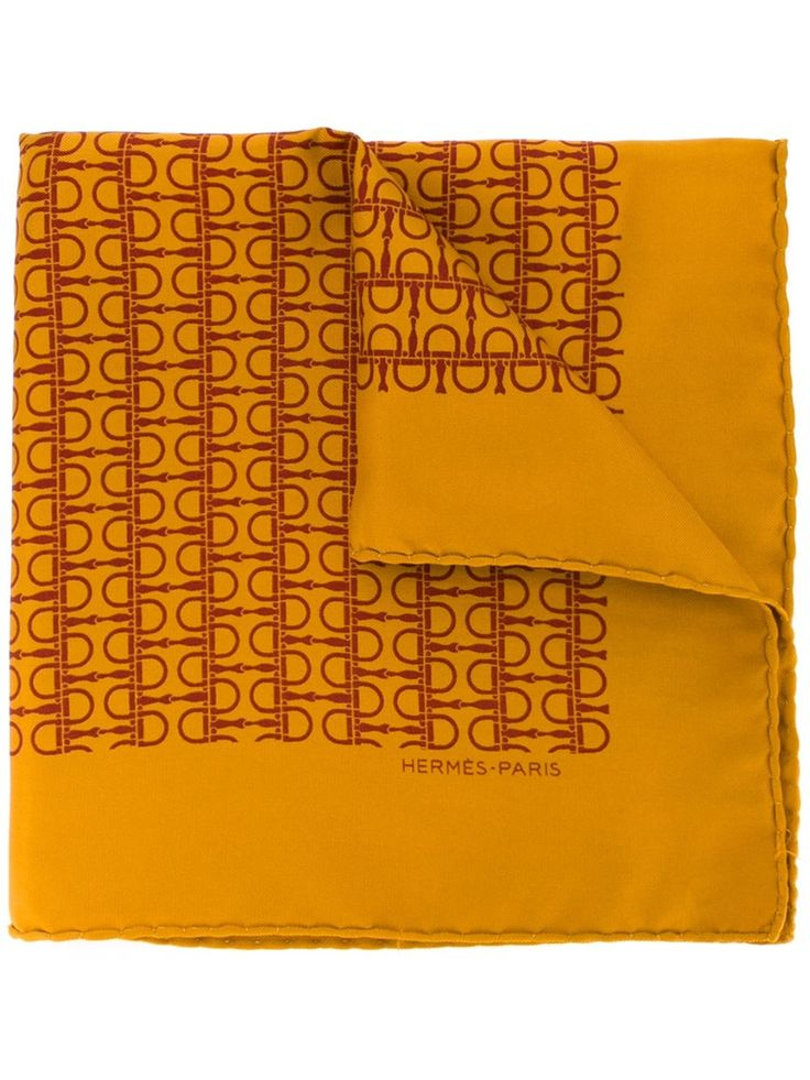 Hermès Vintage printed square pocket
