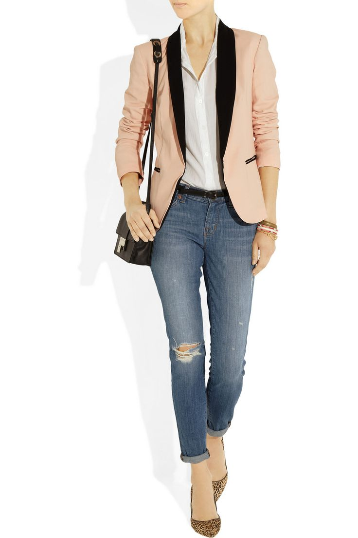 Rag & Bone blush and black tuxedo jacket - Thinking a tuxedo jacket is a  must for the fall/winter season.