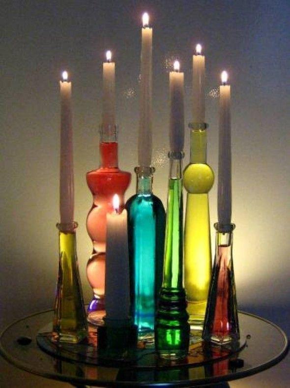 Garrafas de vidro no artesanato 010
