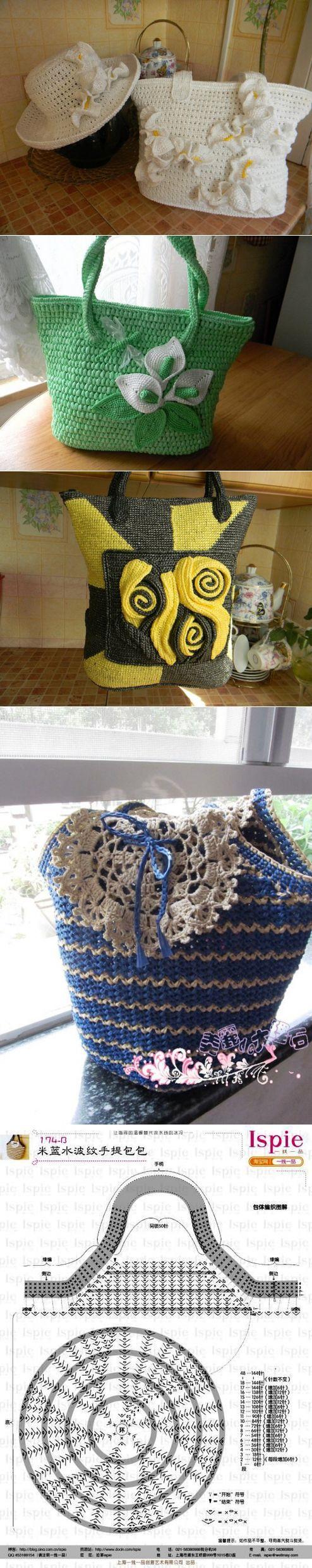 Летние нарядные сумки из пакетов  <3 Deniz <3