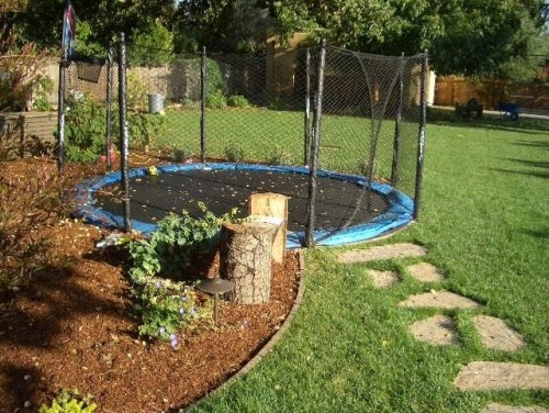 In-ground trampoline!  How cool!