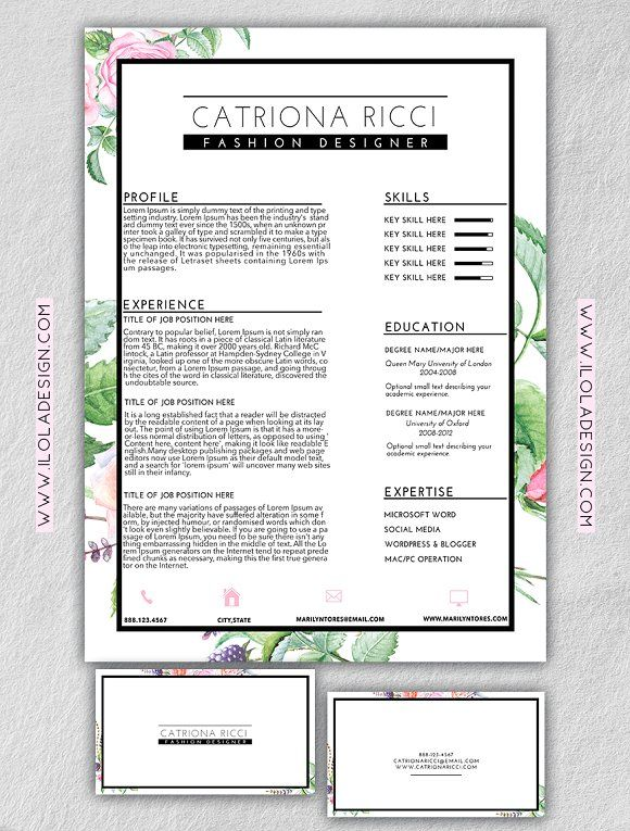 239 best Professional Resume Template images on Pinterest Resume - professional resume fonts