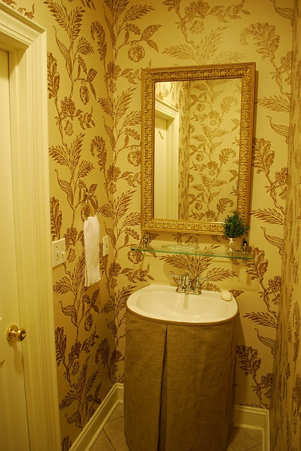 Pedestal Sink Skirt For Powder Room