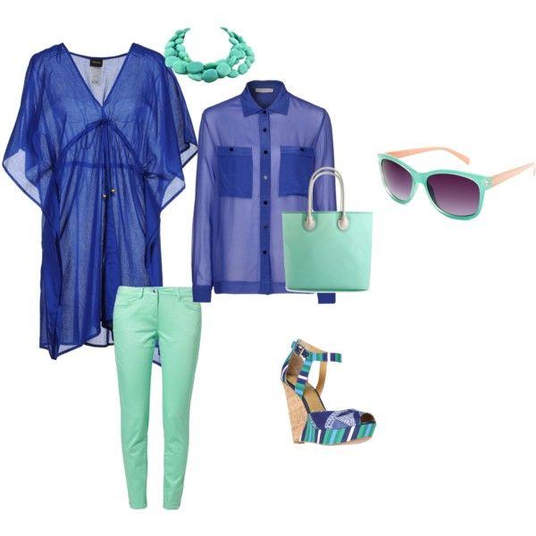"""bleu top"" by patrizia-novello on Polyvore"