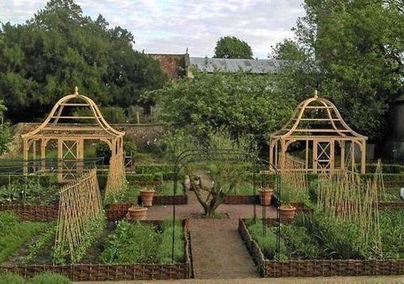 Ornamental Potager - English Garden arbours