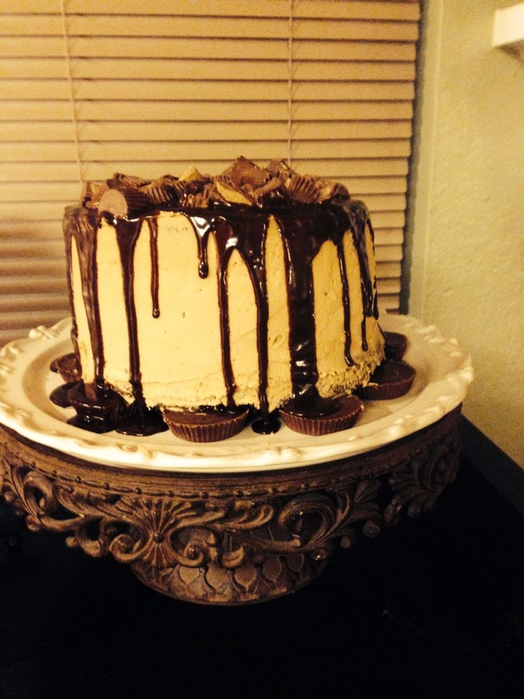 Reese's Peanut Butter Cup Cake. For Devon's 30 th Birthday