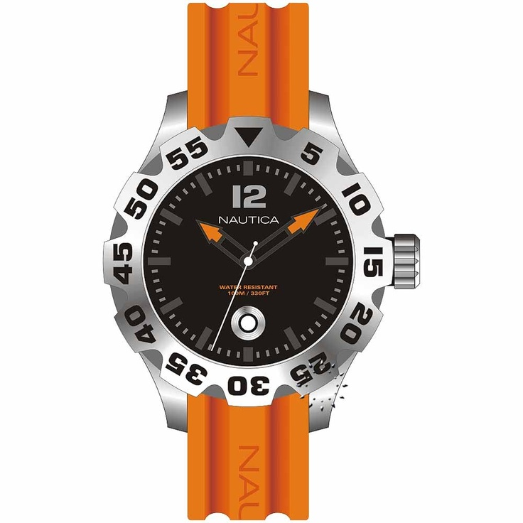 NAUTICA BFD101 Orange Rubber Strap Μοντέλο: A14603G Η τιμή μας: 157€ http://www.oroloi.gr/product_info.php?products_id=20854