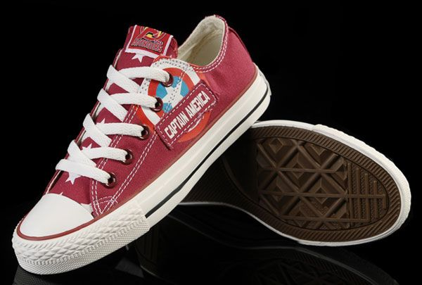 d6142ec92aa1 Red Captain America Converse Marvel Avengers Chuck Taylor All Star Low   converse  shoes