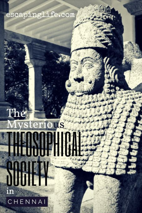 A mysterious 250-acre campus and gardens dedicated to the study of Divine Wisdom called the Theosophical Society in Adyar, Chennai, India