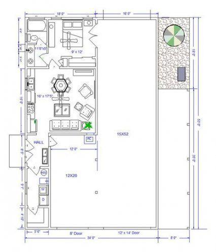 New Pole Barns with Apartment Floor Plans | Barn apartment ...
