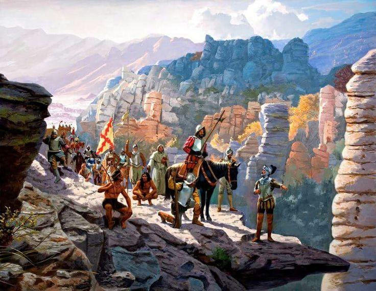 1540 Francisco Vazquez de Coronado llega al Gran Cañon del Colorado