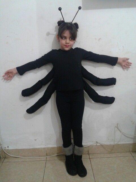 Cielo Y Su Disfraz De Arana Disfraz Pinterest Halloween Spider - Disfraz-de-araa-casero