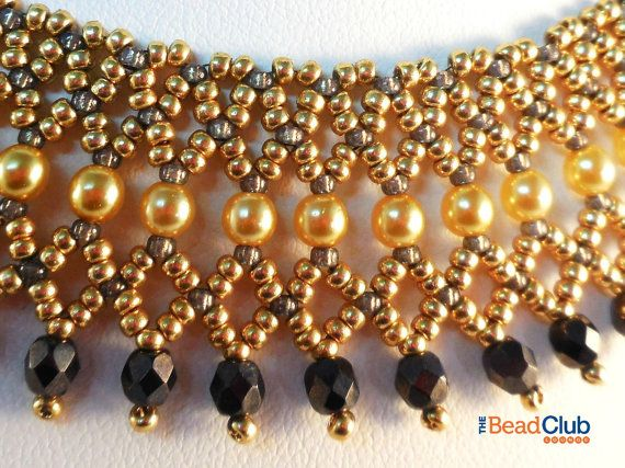 Beaded Necklace Patterns  Seed Bead Tutorials  Bead Netting