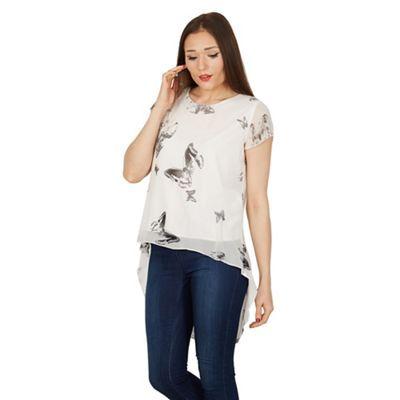 Izabel London White butterfly print t-shirt top | Debenhams