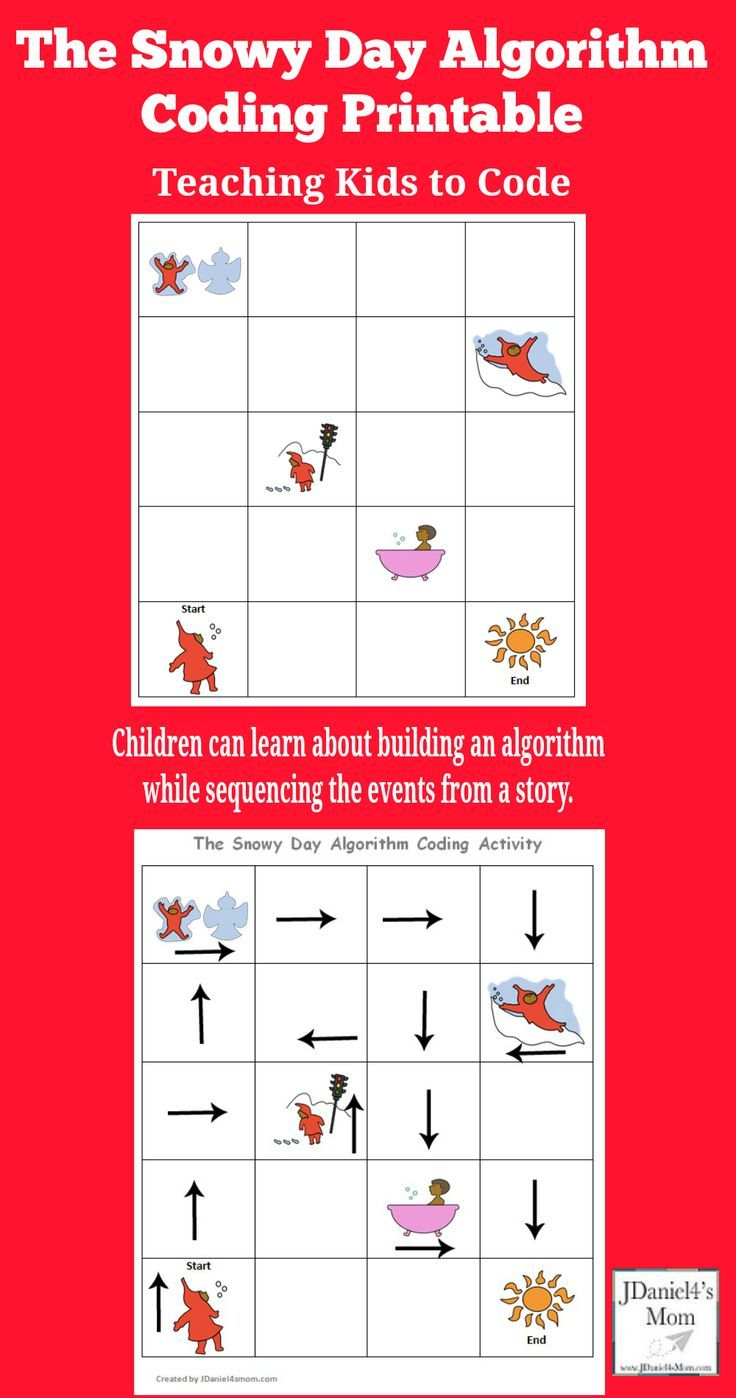 Teaching Kids To Code The Snowy Day Coding Algorithm Activity Printable Children At Home And Students A Teaching Kids To Code Teaching Kids Coding For Kids [ 1398 x 736 Pixel ]