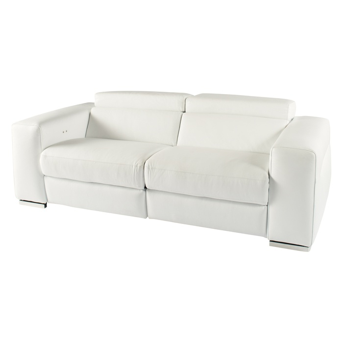 Combining comfort with style and innovation. The Moscow's sumptuous leather seats conceal an electronic mechanism, allowing for an easy assisted recline. An adjustable headrest makes for the optimum in comfort, creating an ideal place to relax in front of the TV. Available in both black and white, it will look great in any home. £2995