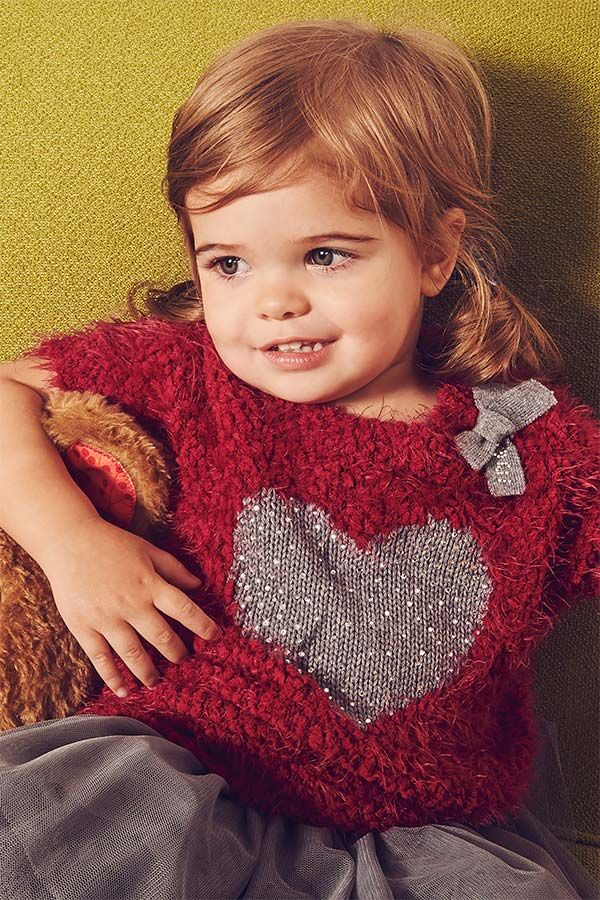 Soffice e caldo questo abbinamento iDO composto da morbida maxi maglia color rosso bordeaux in ecopelliccia.   iDO moda bambini - Collezione Autunno Inverno 2015/16 | Autumn Winter Collection 2015/16 #AI15 #kidsfashion #modabambino