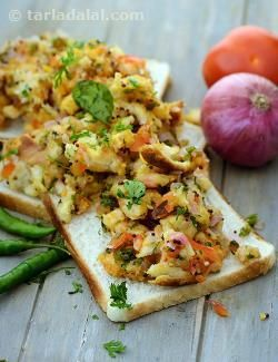 Sandwiches somehow lack the desi feel, whatever you put in between! change the menu to bread upma instead, and mom's touch comes alive. With simple ingredients and a quick microwave procedure, this is a 100 per cent hassle-free snack. Don't dip the bread for a long time, as it will lose its texture.