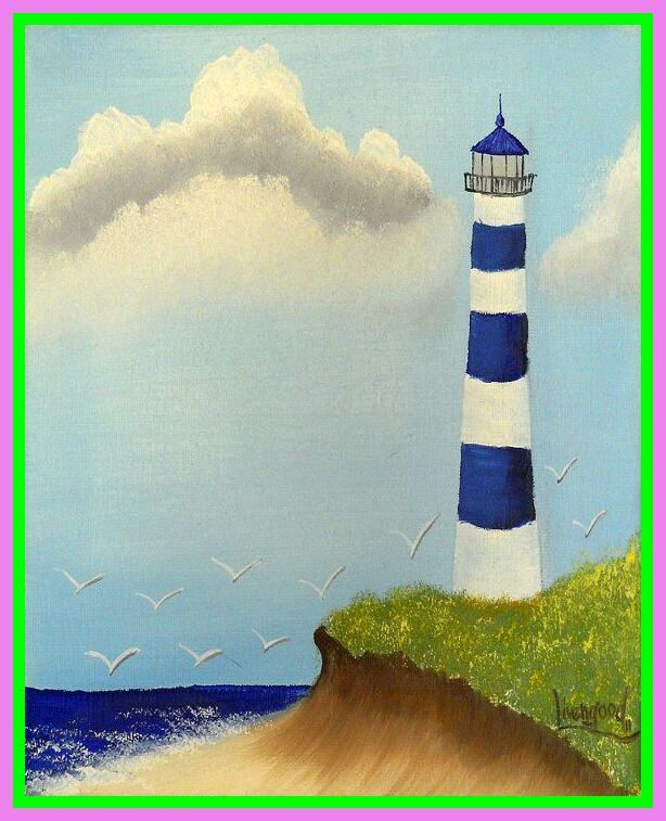 110 Reference Of Lighthouse Painting Simple Lighthouse Painting Watercolor Landscape Paintings Painting